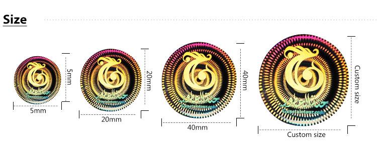 Pasadya nga pag-print glitter sticker sheet, holographic rainbow transparent nga mga label