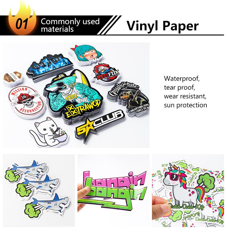 Pasadya nga pag-print nga selyo nga sticker nga sticker nga balde nga mga sticker nga payong sticker nga logo sticker